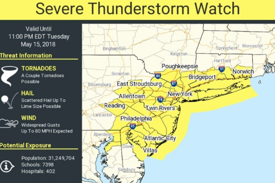 Forecasters: Severe Thunderstorms Could Bring Lime-Sized