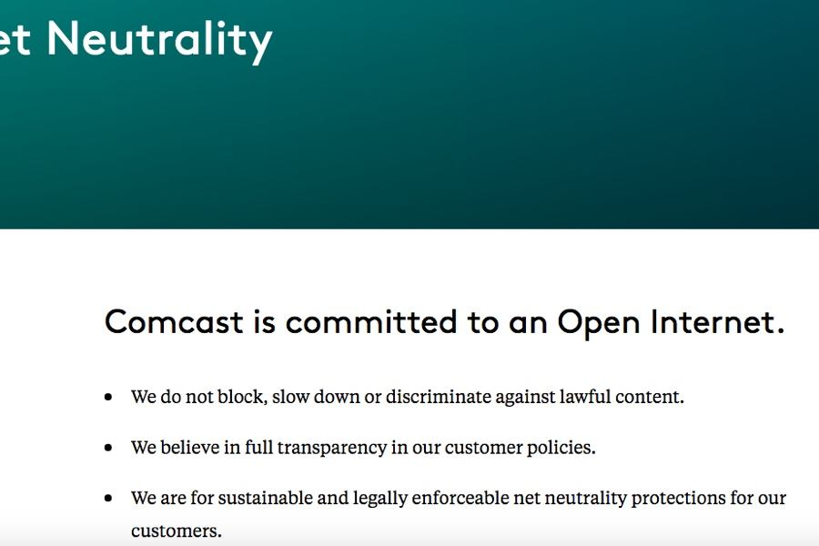 With Net Neutrality Gone, Comcast Says It Won't Block or Slow Your