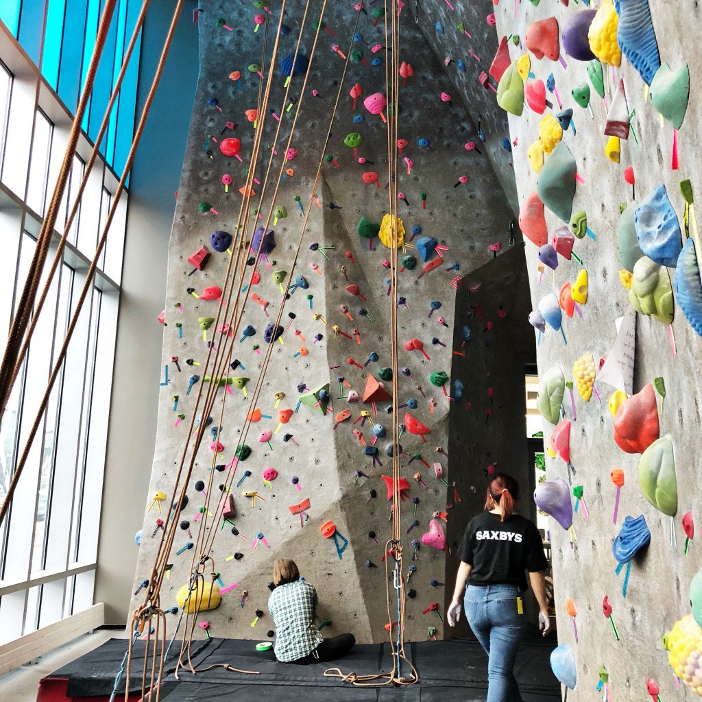 Drexel Recreation Center S Rock Climbing Wall Photograph By Caroline Cunningham