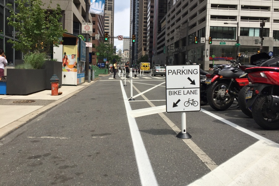protected bike lane vision zero one-year report
