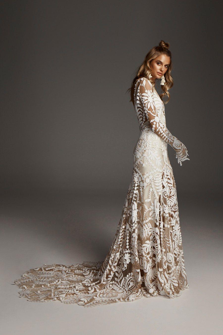 64d5db98236 The Avril wedding gown by Rue De Seine. Photo via Rue De Seine website