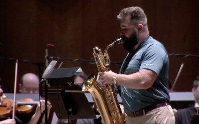 jason kelce, saxophone