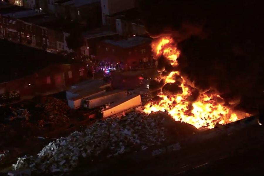 kensington fire, scrapyard