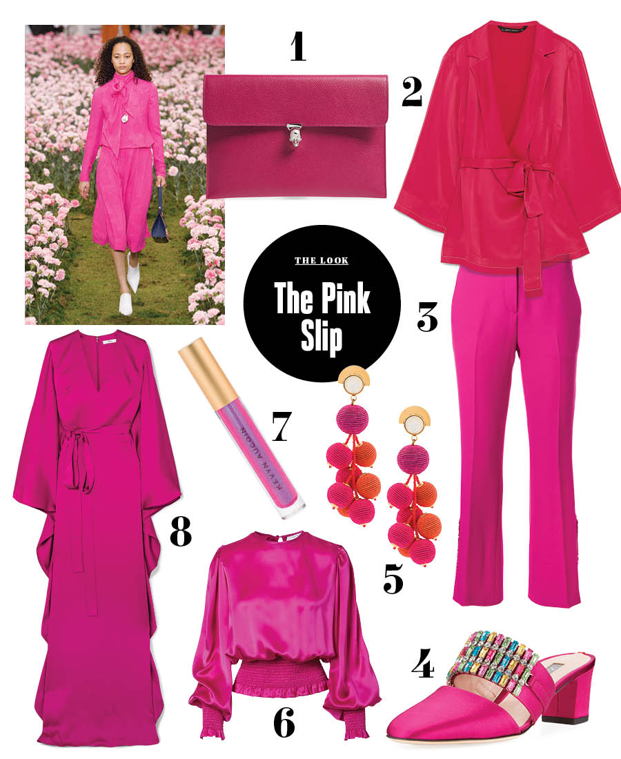 magenta outfit ideas summer fall