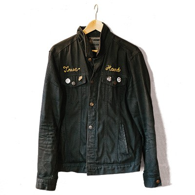 mike ski true hand society denim jacket