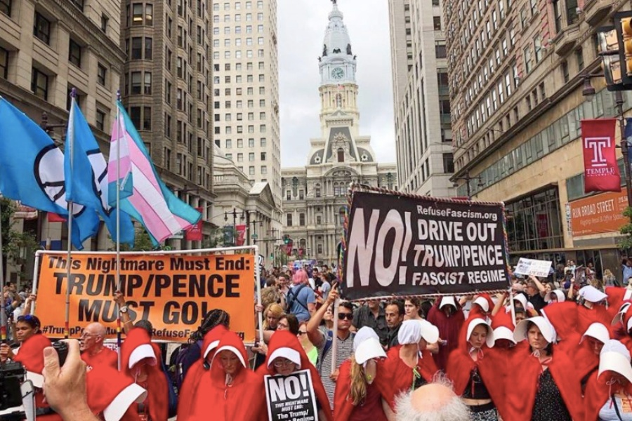 'Handmaid's Tale' demonstrators to protest Pence in Philly