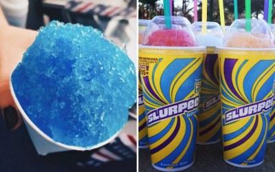 snow cone, slurpee, freebies, 7-Eleven