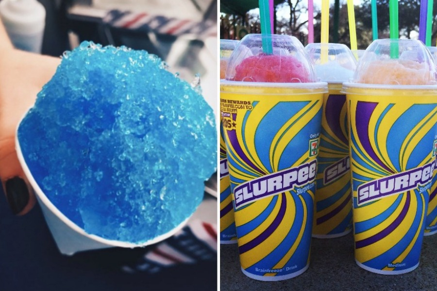 snow cone, slurpees, freebies, 7-Eleven