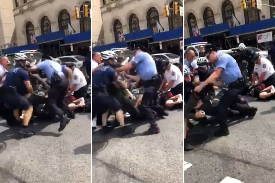 antifa protesers arrested police brutality