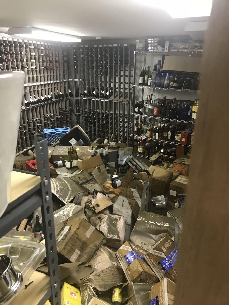cornerstone flood damage wine