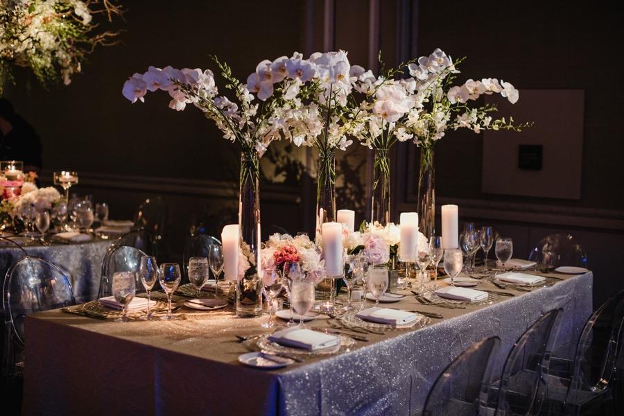 logan hotel wedding decor