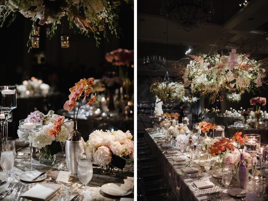 glam logan hotel wedding decor