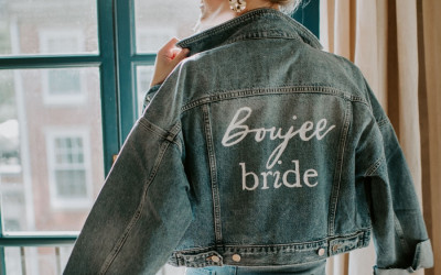 house of catherine boujee bride jean jacket