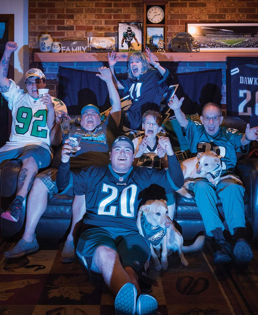 philadelphia eagles fans family
