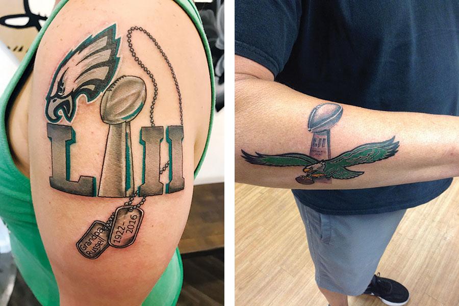 philadelphia eagles tattoos 7