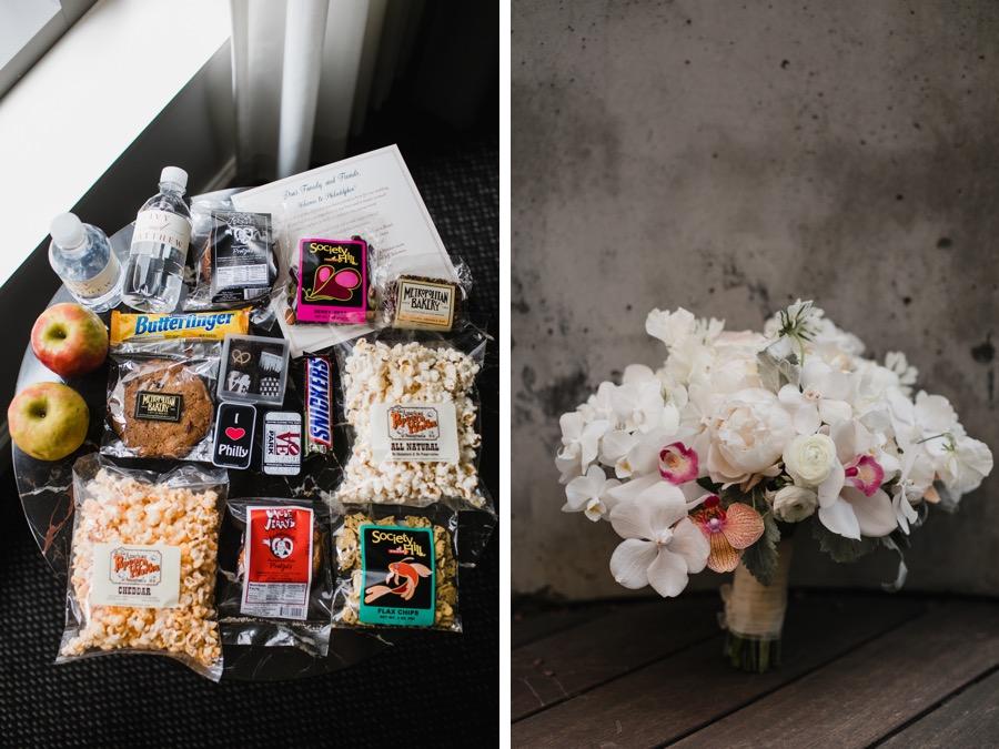 philadelphia wedding welcome bag