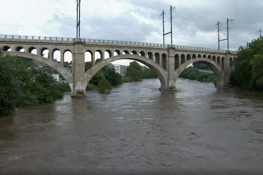 schuylkill river flooding, manayunk