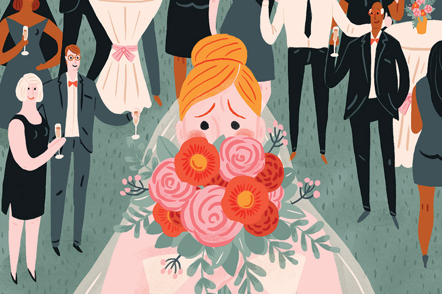 wedding anxiety illustration