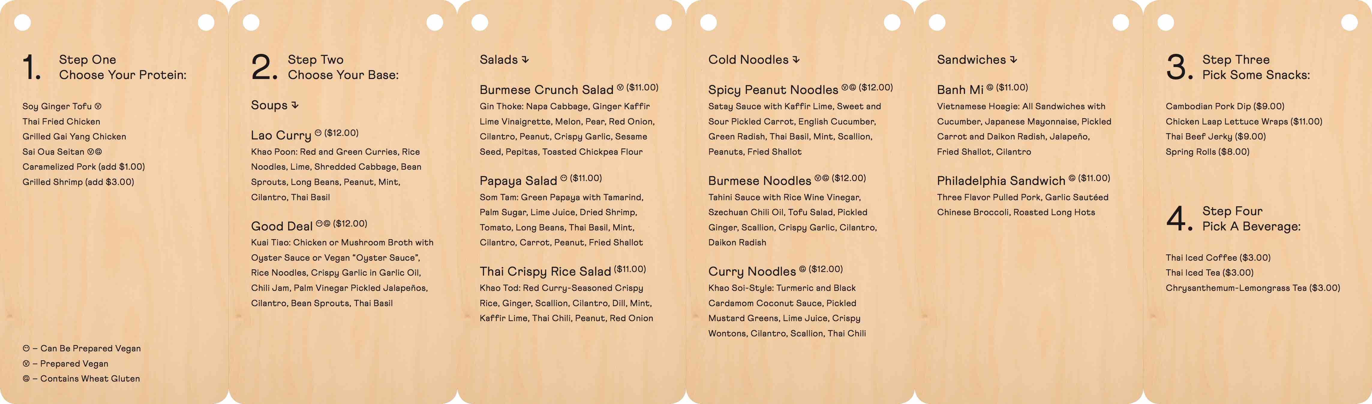 stock rittenhouse menu