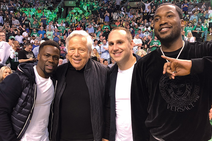 cf1cf6a820a Rubin with Kevin Hart, Robert Kraft and Meek Mill just after Mill's release  from prison. Photograph courtesy of Michael Rubin