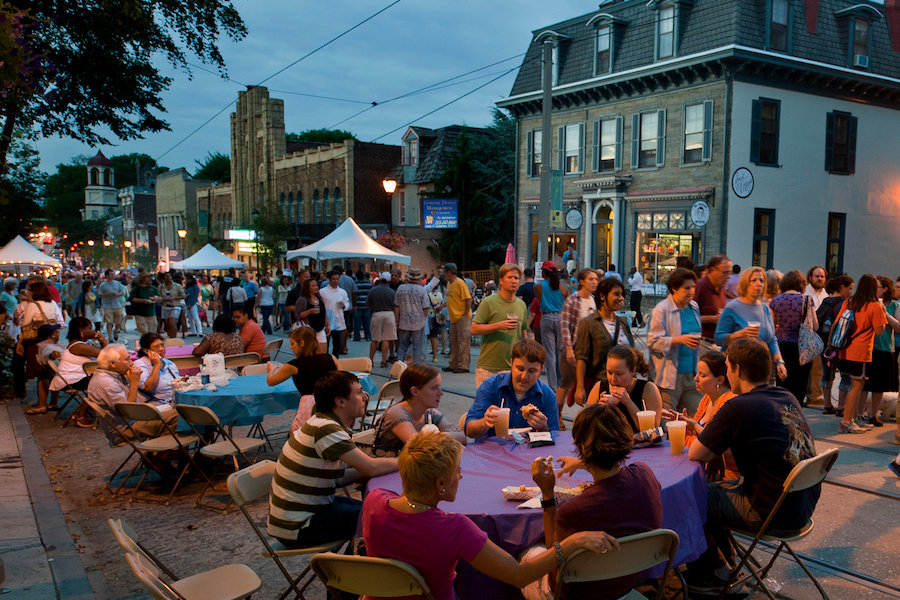 hottest affordable neighborhoods mt. airy night market germantown avenue