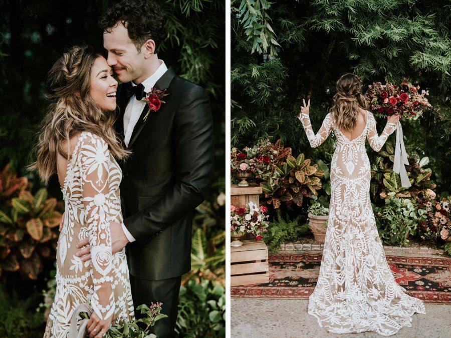 boho bride groom