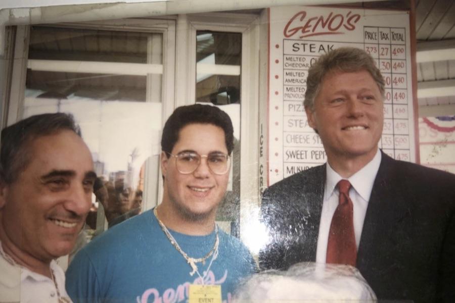 cheesesteak history genos steaks bill clinton
