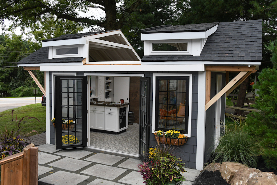 He Shed She Shed She Shed with roof open