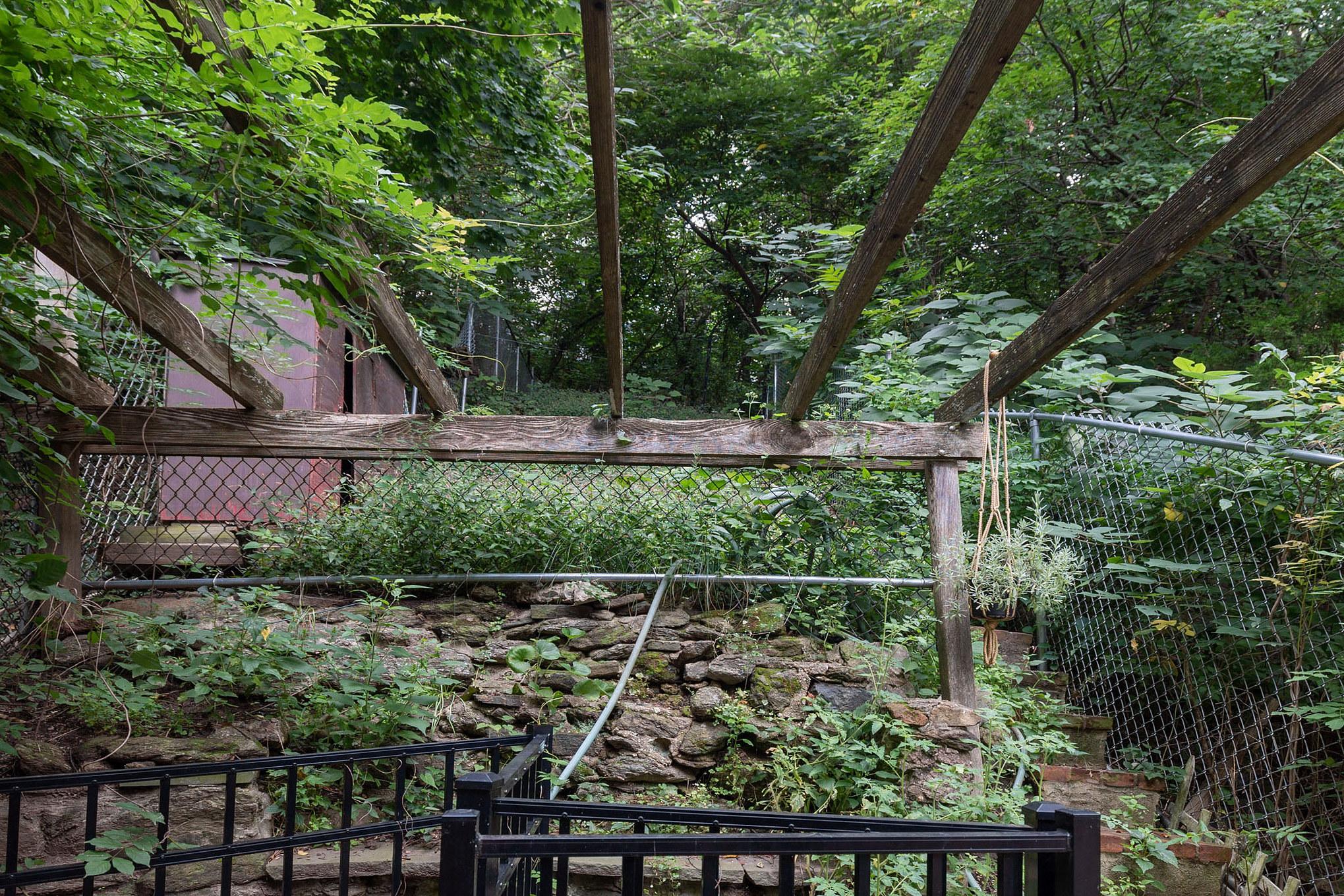 house for sale manayunk narrow trinity patio and backyard