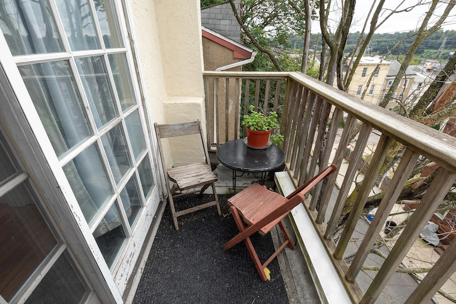 house for sale manayunk narrow trinity balcony