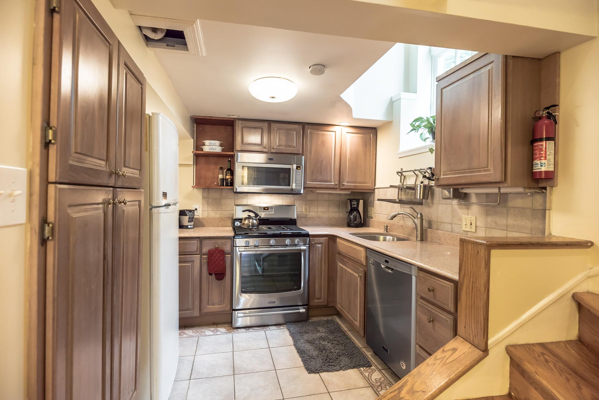 house for sale manayunk narrow trinity kitchen