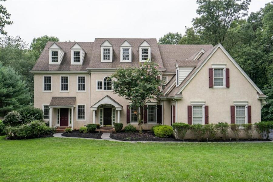 house for sale springton lake colonial exterior front