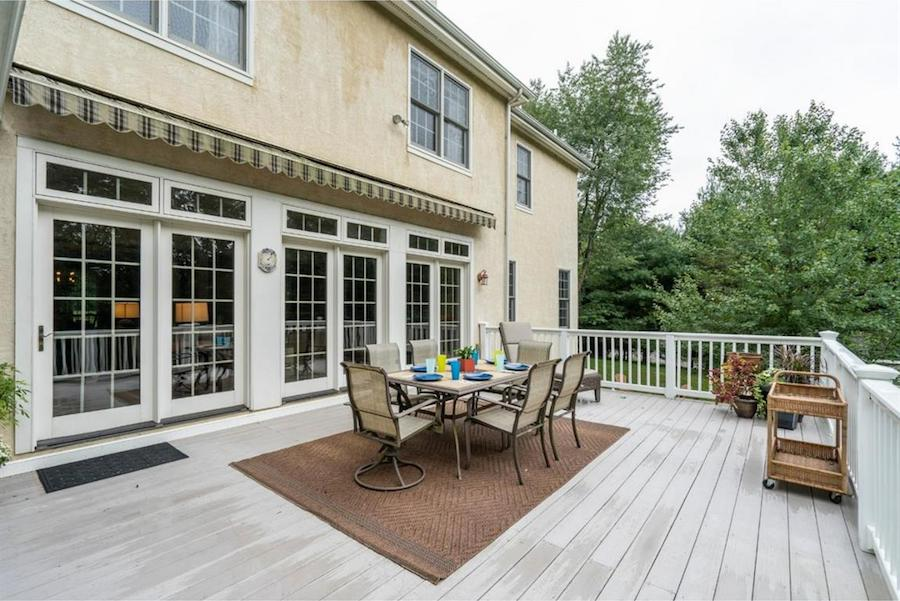 house for sale springton lake colonial deck