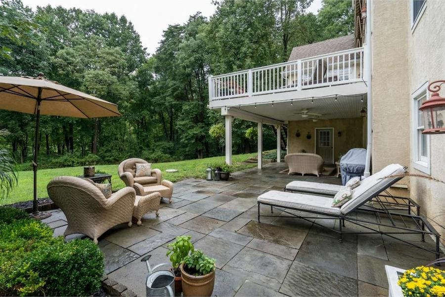 house for sale springton lake colonial rear patio