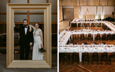 modern barnes foundation wedding