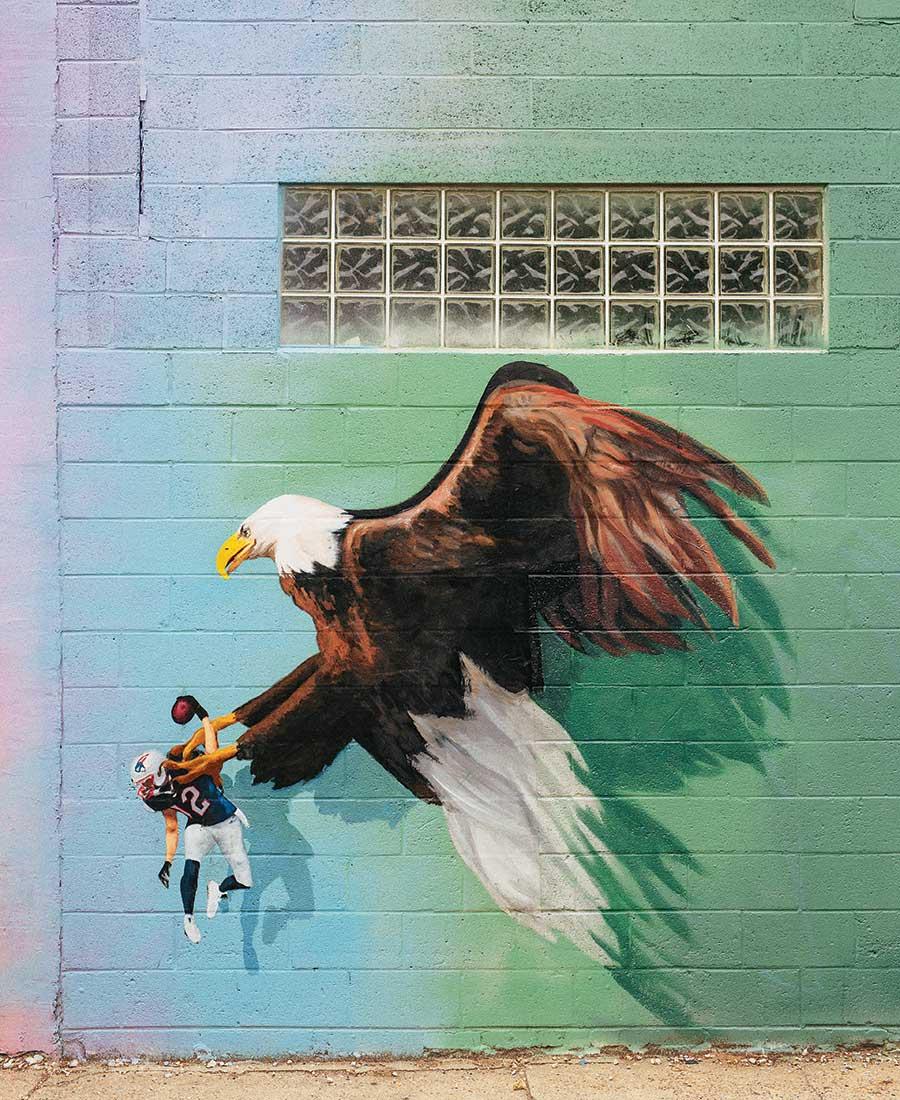 philadelphia eagles town mural
