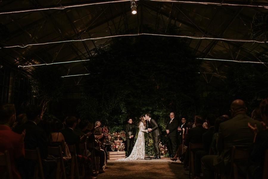 winter horticulture center wedding