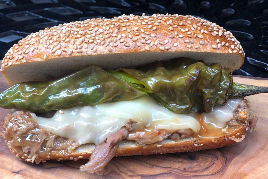 alligator pork sandwich