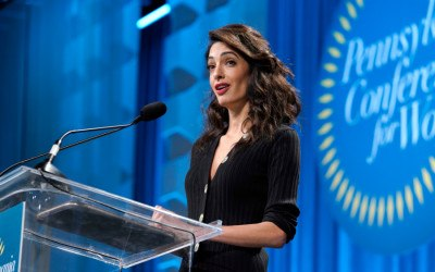 amal clooney trump pennsylvania conference for women philadelphia