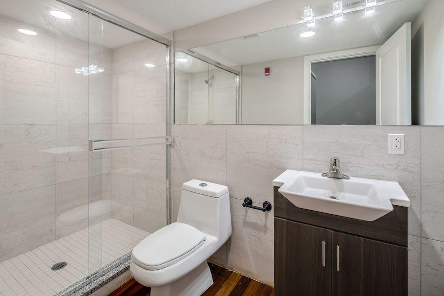 apartments for rent philadelphia harrowgate j street lofts apt bathroom