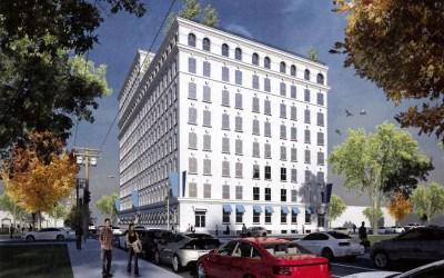 apartments for rent umbrella building exterior rendering