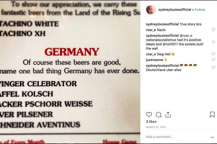 brigantessa chef sydney hanick anti-semitic