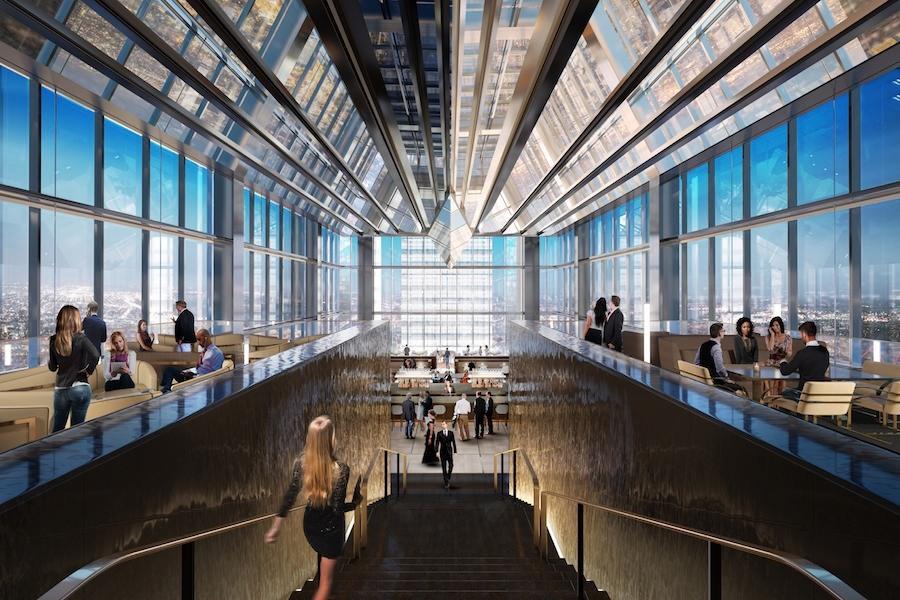 comcast technology center tour four seasons restaurant rendering