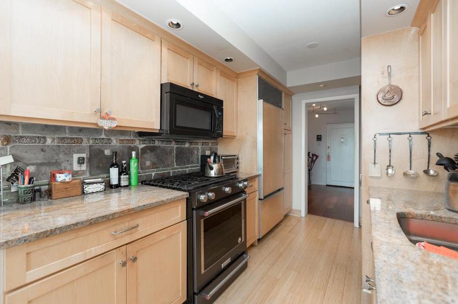 condo for sale art museum philadelphian corner unit kitchen