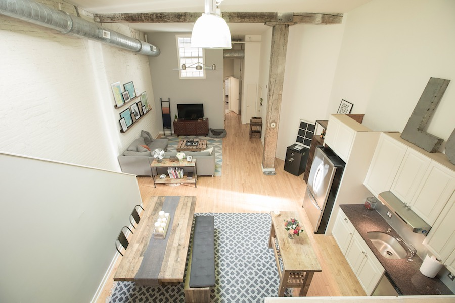 condo for sale northern liberties industrial loft main living area