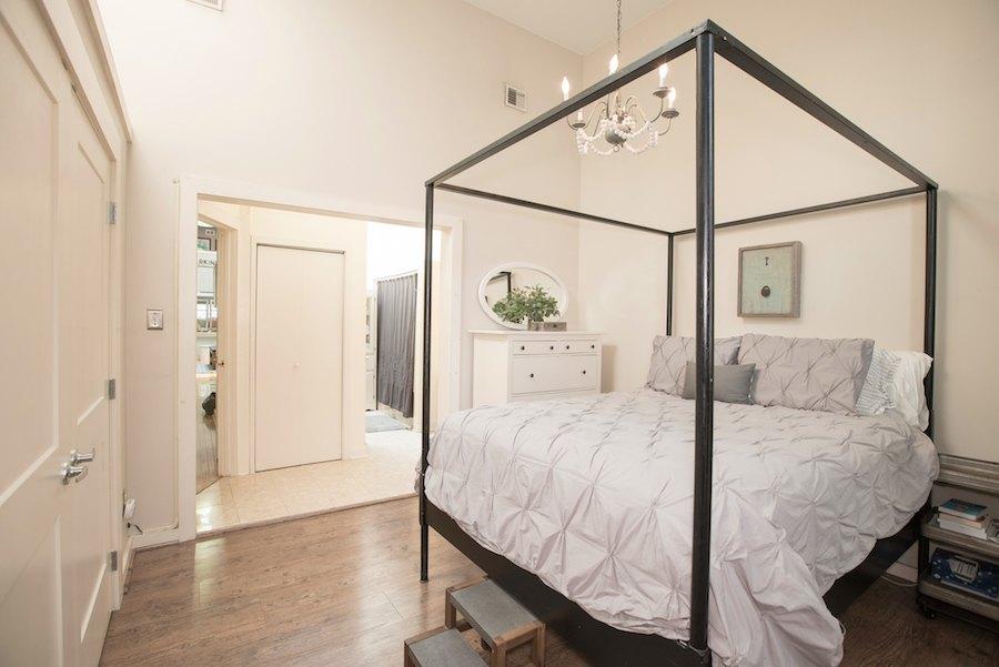 condo for sale northern liberties industrial loft master bedroom