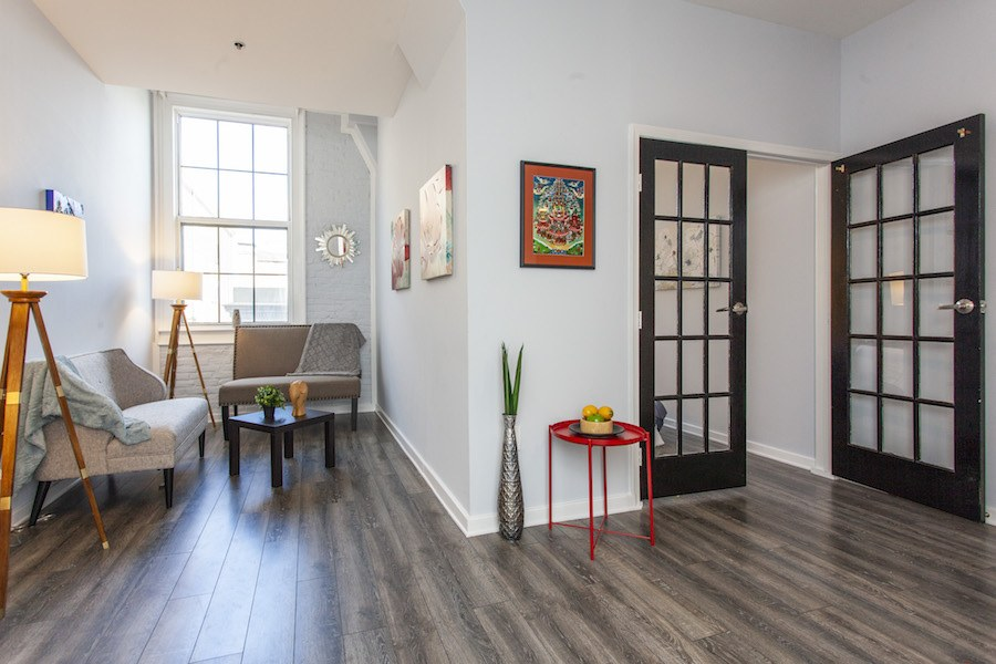 condo for sale old city bridgeview starter living room and bedroom