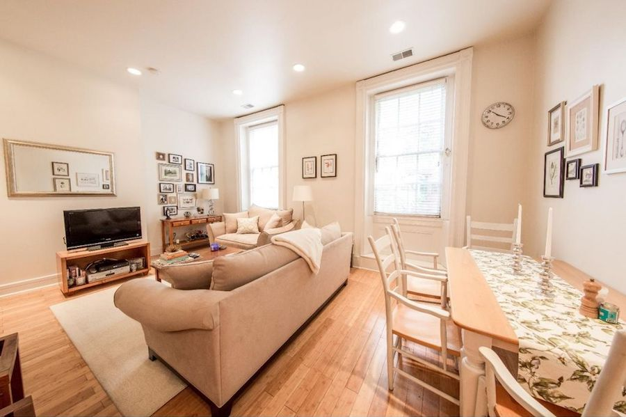 condo for sale wash west gayborhood condo living-dining room