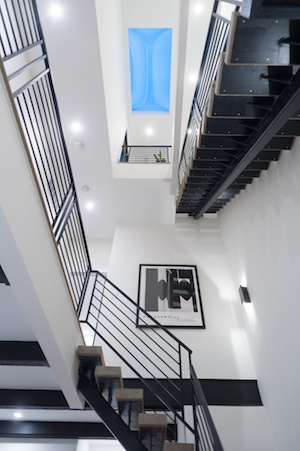 house for sale brewerytown carriage house stairwell
