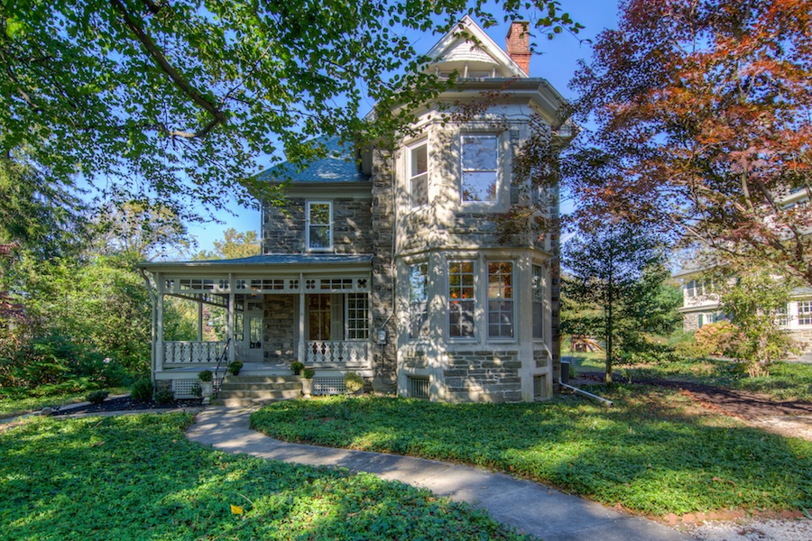 house for sale chestnut hill restored victorian exterior front